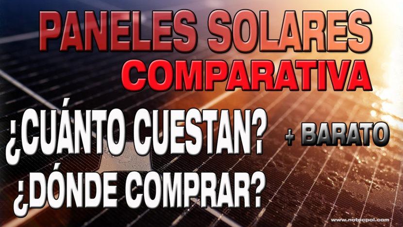 Comparativa PRECIOS Paneles Solares